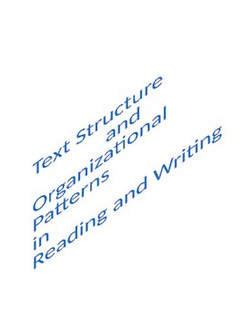 Text Structure/Organizational Patterns for Reading and Writing/A TRTW Lesson