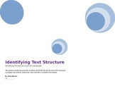 Text Structure Paragraph Sort