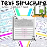 Text Structure Passages ~ Text Evidence ~ Text Structure Worksheets