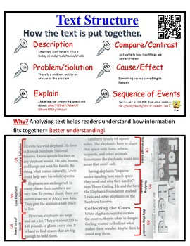 Text Structure Poster Anchor Chart Lesson