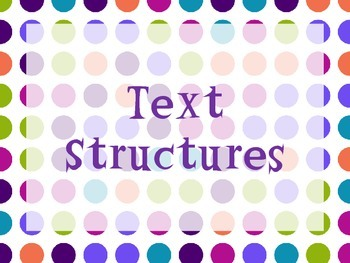 Text Structure Poster Set with Interactive Notebook Pages