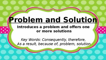 Nonfiction Text Structure Posters with colorful polka dot design
