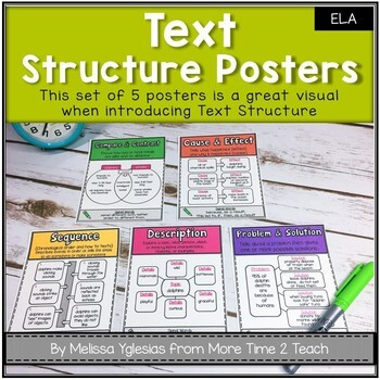Text Structure Posters: Cute, Colorful, and COMPREHENSIVE
