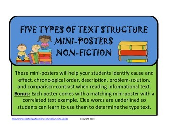Text Structure Posters Informational Text Structure Non-Fiction