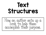 Text Structure Posters With Definitions