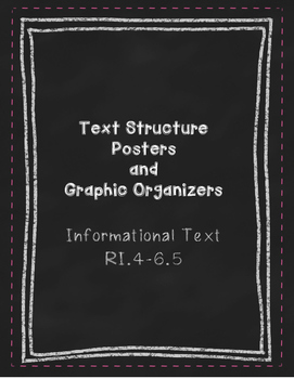 Text Structure Posters and Graphic Organizers