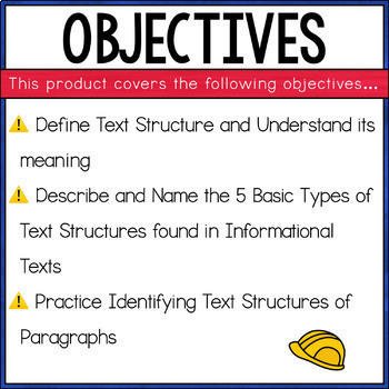 Text Structure PowerPoint *Aligned to the CCSS and LAFS