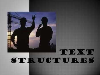 Text Structure PowerPoint- Author's Organization