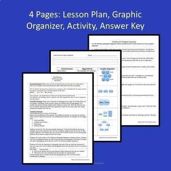 Text Structure Lesson, PPT, Graphic Org and ORIGINAL Activity