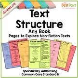 Text Structure Graphic Organizers for Any Book Distance Learning