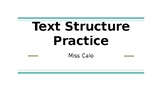 Text Structure Practice Questions