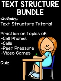 Text Structure Practice for Upper Elementary or Middle School Bundle