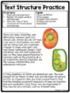 Text Structure Practice for Middle School- Test Prep, Passages on Cells