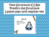 Text Structure- Predict the Structure