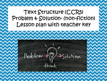 Text Structure- Problem and Solution Non-Fiction