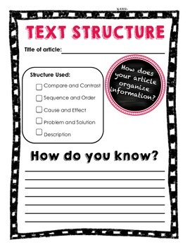 Text Structure Q&A