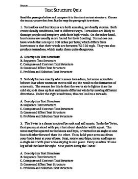 Text Structure Quiz #2