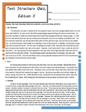 Text Structure Graphic Organizer, Sort Activity, and Pre-/Post-Quiz