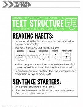 Text Structure (RI.4.5 and RI.5.5)