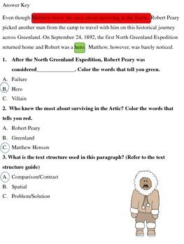 Text Structure & Reading Comprehension: Matthew Henson