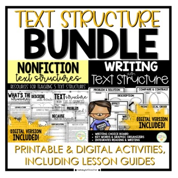 Text Structure Reading & Writing Bundle