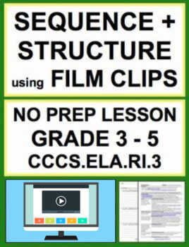 Text Structure & Sequencing using FILM: NO PREP Lesson Plan & Handout: CCSS.RI.3