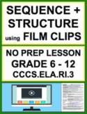Text Structure & Sequencing with VIDEO: NO PREP Lesson & Activities: CCSS.RI.3