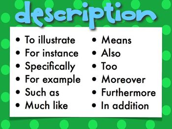 Text Structure Signal Words Anchor Charts By Megasuper Esl