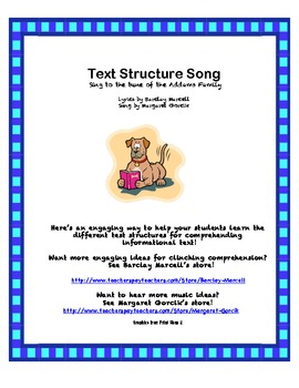 Text Structure Song and Matching Game