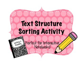 Text Structure Sort