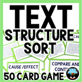 Text Structure Sort : 50 Card Sorting Activity