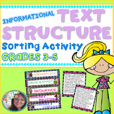 Text Structure Practice/Sort (Informational): Great for Re
