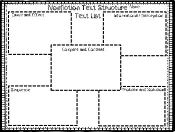 Text Structure Sort/ Tracking Sheet