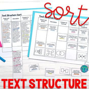 Text Structure Sort - cards & passages