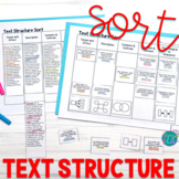 Text Structure Sort Cards & Passages - Text Structure Activity