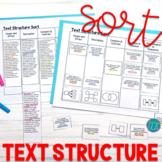Text Structure Sort Cards & Passages - Text Structure Activity