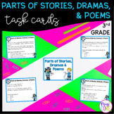 Text Structure Stories, Dramas, and Poems Task Cards 3rd Grade RL3.5