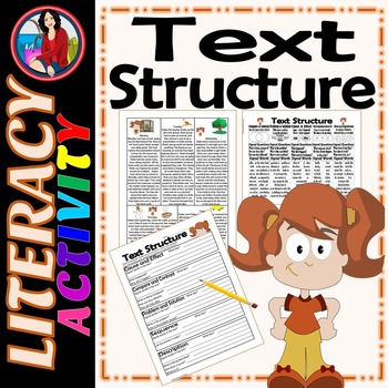 Text Structure Summarize Paraphrase Cite the Evidence Activity Katie's Week
