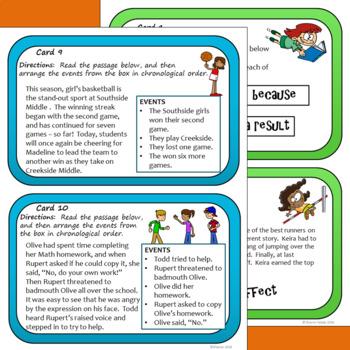 Text Structure Task Card Bundle