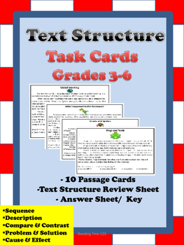 Text Structure Task Cards