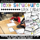 Informational Text Structure Task Cards & Teaching Posters