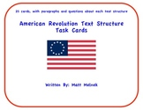 Text Structure Task Cards (American Revolution)