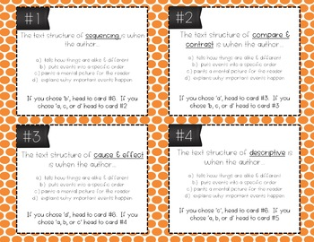 Text Structure Task Cards (Differentiated)