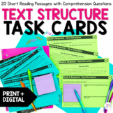 Text Structure Task Cards - Distance Learning