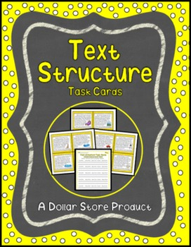 Text Structure Task Cards Grades 3-4