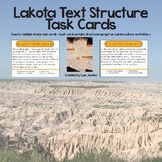 Text Structure Task Cards - Native American Culture