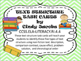 Text Structure Task Cards Non Fiction Text Structure Infor