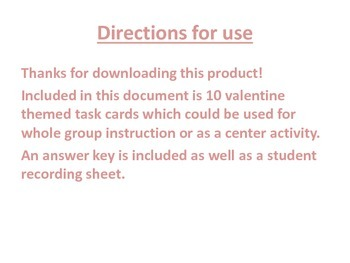 Text Structure Task Cards - Valentine Themed