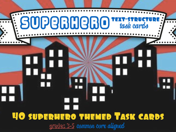 Text-Structure Task Force Cards (Superhero Themed)