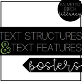 Text Structures & Text Features Posters (Classroom Décor)